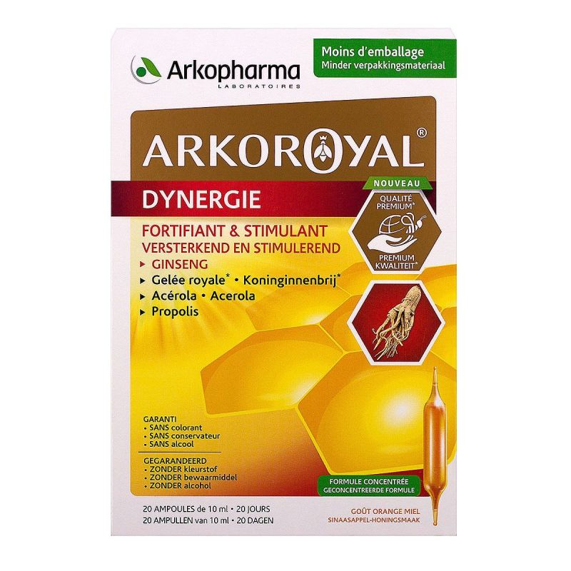 Arkoroyal Gelée Royal Dynergie-20 ampoules