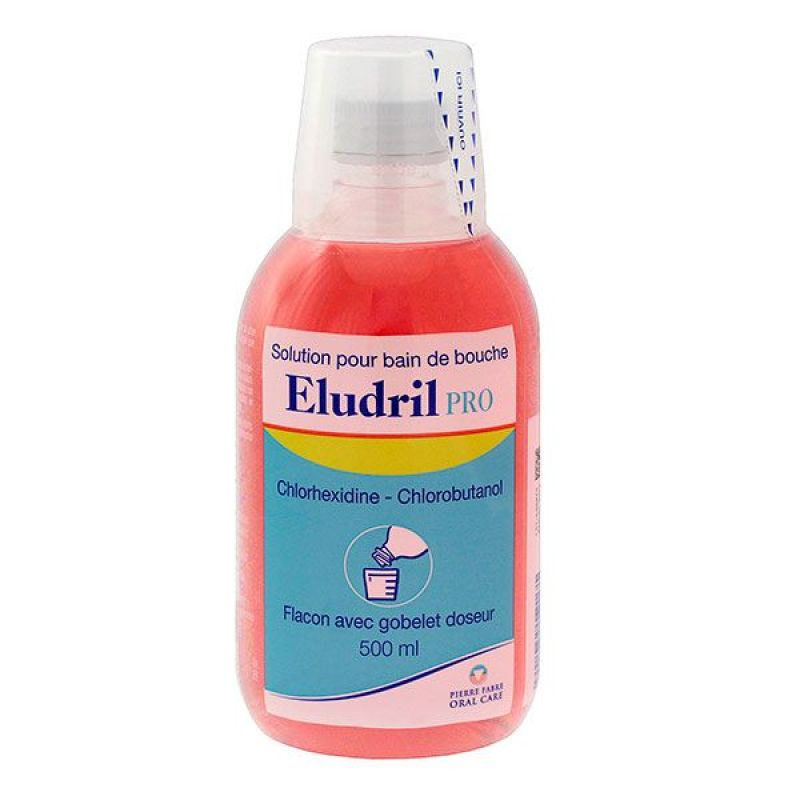 Eludril Pro - Solution bain de bouche 500mL