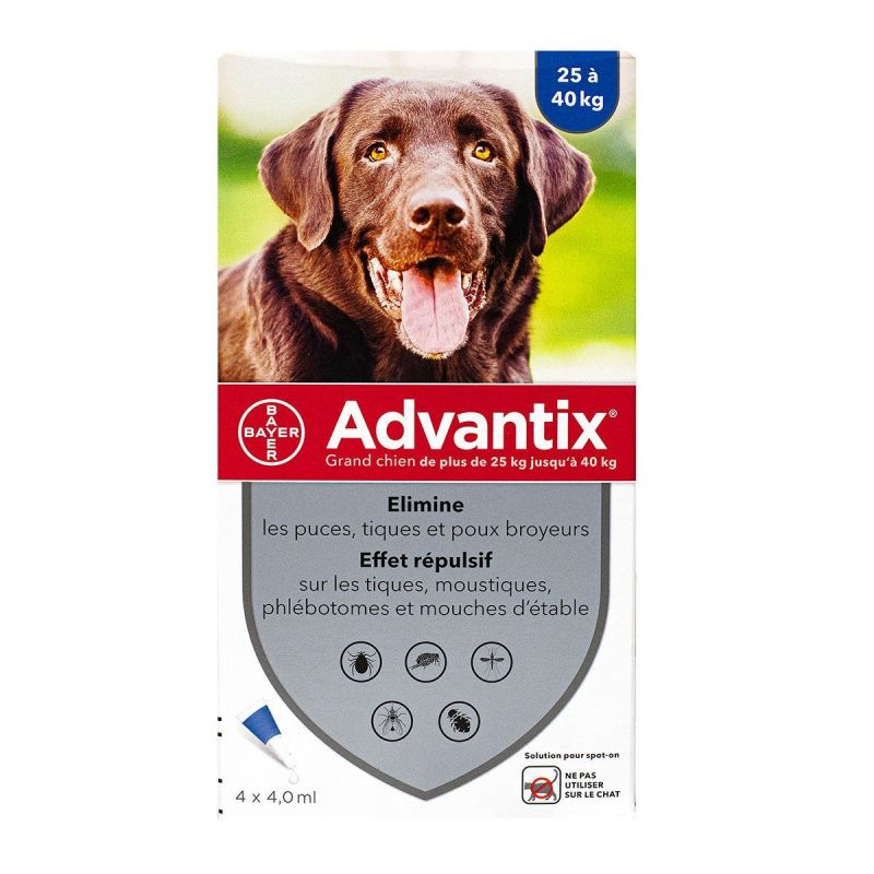 Advantix Gr/chien Pipet 4ml 4