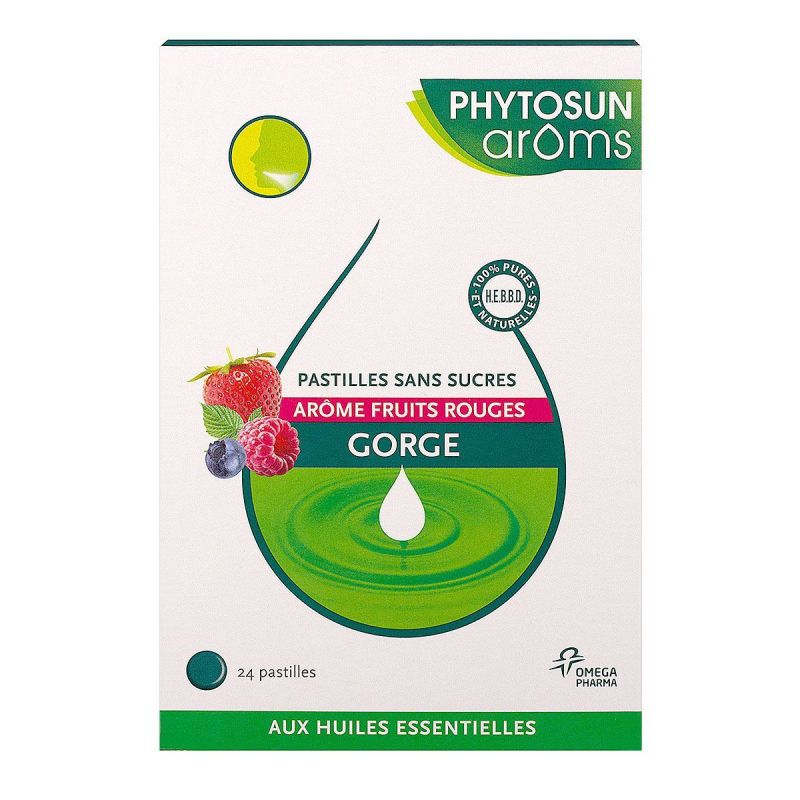 Phytosun gorge 24 Pastilles S/S Fruits rouges