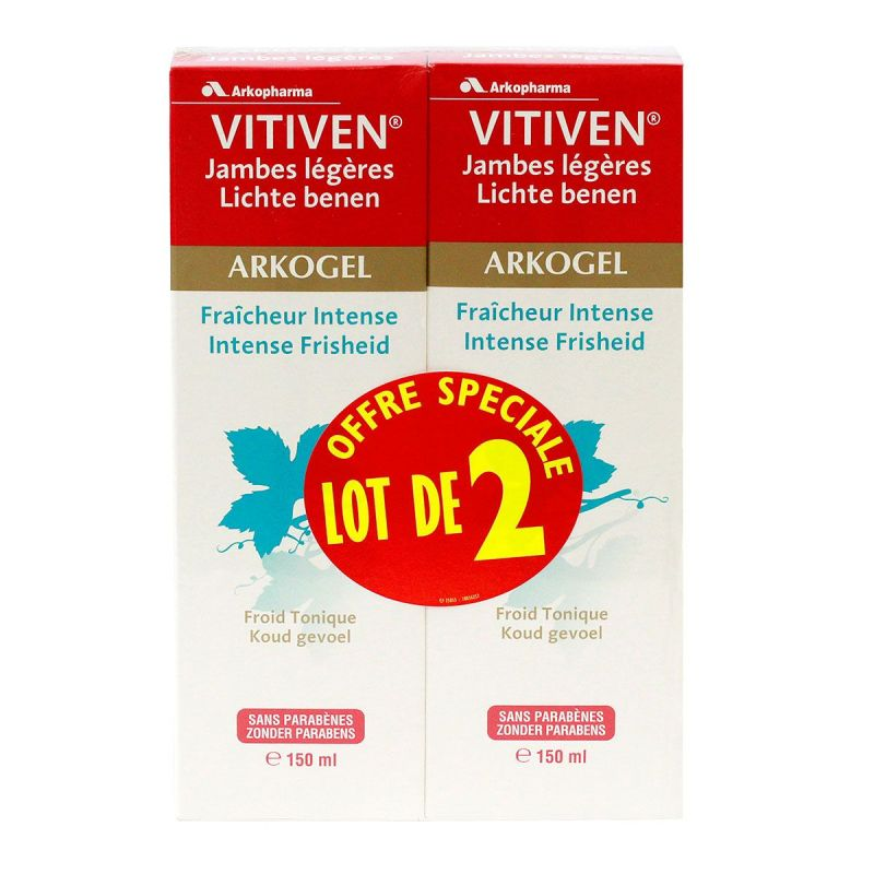 Arkogel Vitiven fraîcheur intense 2x150ml