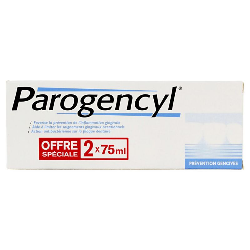 Parogencyl - Dentifrice prévention gencives 2x75mL