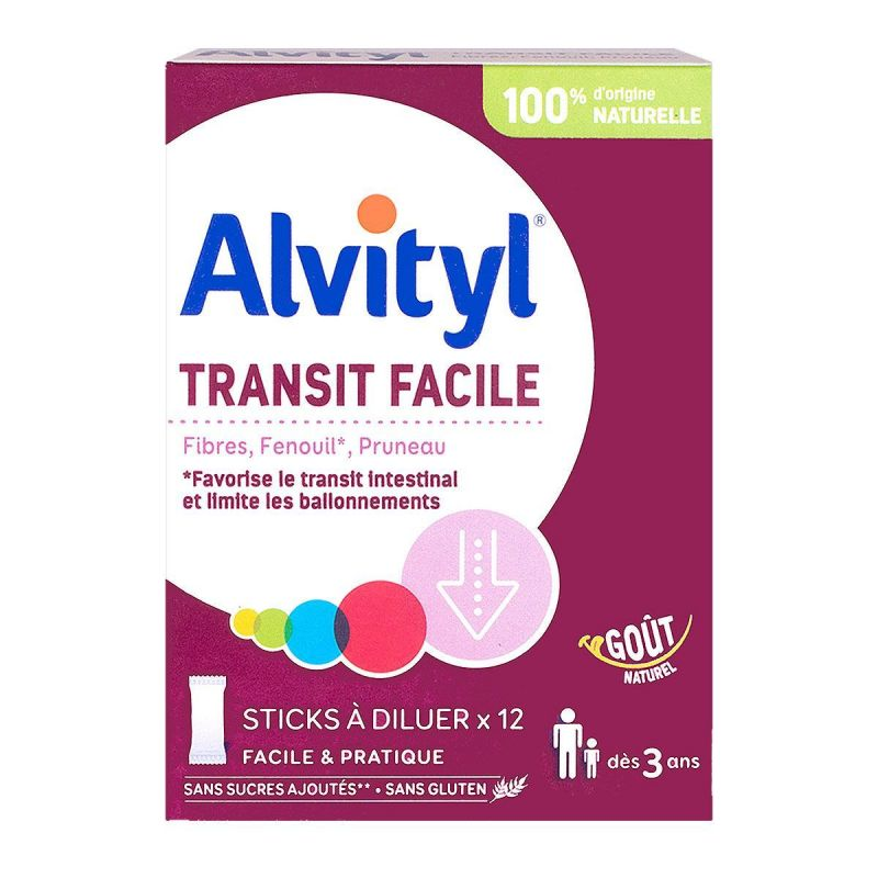Alvityl - Transit facile 12 sticks