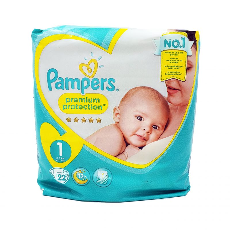 Pampers couches premium protection T1 x22