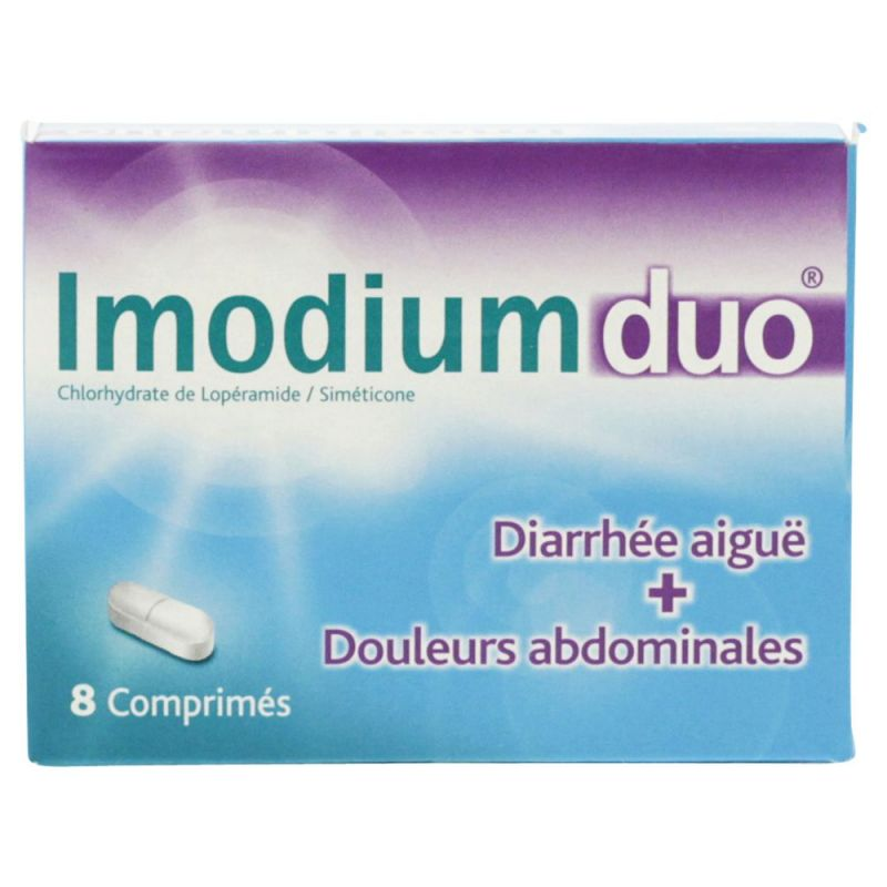 Imodium Duo 8 comprimés