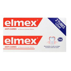 Elmex - Dentifrice anti-caries 2x125mL