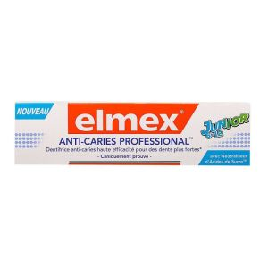 Elmex - Dentifrice anti-caries professional junior 6-12ans 75mL