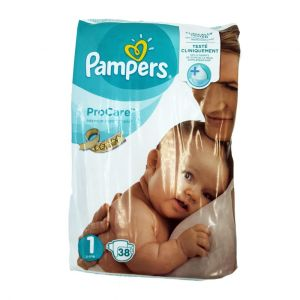 Pampers couches ProCare T1 (2-5kgs) x38