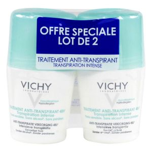 Vichy - Déodorant 48h transpiration intense 2x50mL