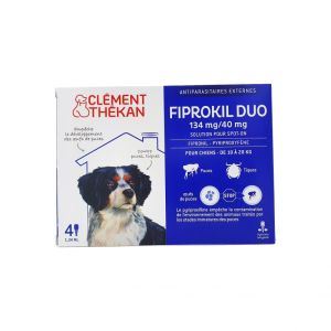 Fiprokil Duo Chien 10/20kg Pipettes 4x 1,34mL