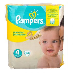 Pampers couches premium protection T4 x24