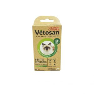 Vétosan - Pipettes Répulsives Antiparasitaire Chaton/Chat - 2x 1mL