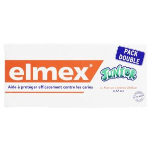 Elmex - Dentifrice junior 6-12ans 2x75mL