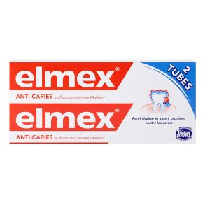 Elmex - Dentifrice anti-caries 2x75mL
