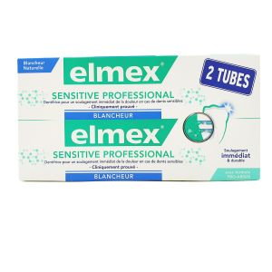 Elmex Dentifrice Sensitive Pro Blanc 2x75mL