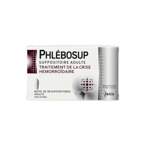 Phlébosup - Adulte 10 suppositoires