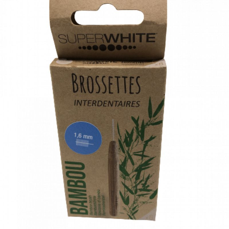 Brossettes interdentaires Superwhite bambou 1,6mm