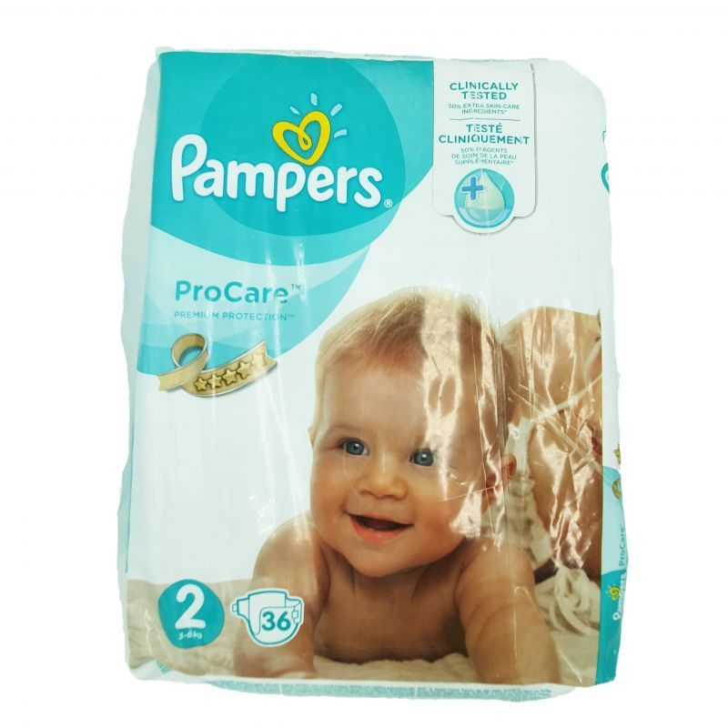 Pampers couches ProCare T2 (3-6kgs) x36