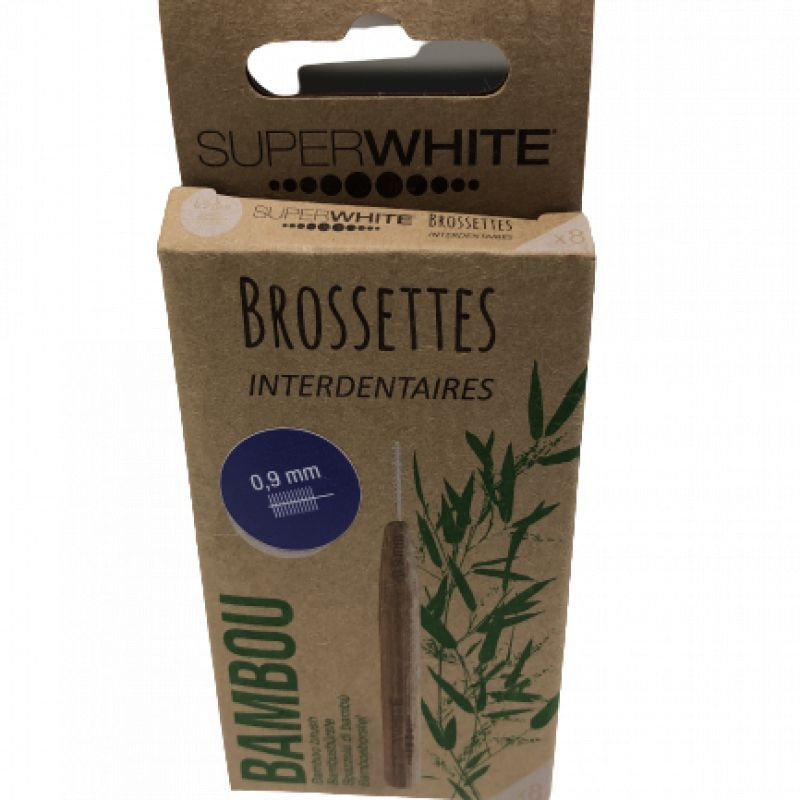 Brossettes interdentaires Superwhite bambou 0,9mm