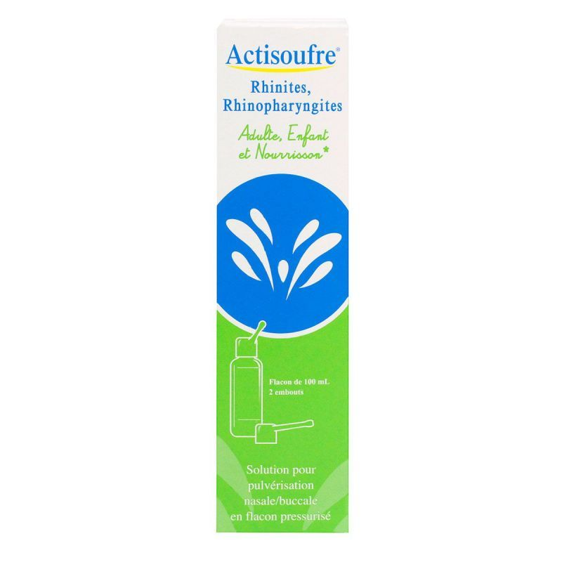Actisoufre Pulverisation Nasale Buccales 100mL